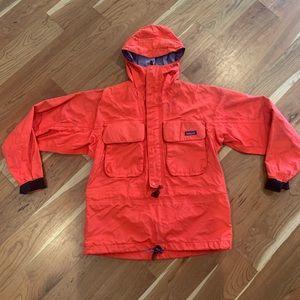 Vintage Patagonia Zip Up Red Rain jacket sz M